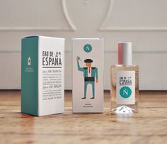 Eau de España Packaging by Tatabi Studio, Spain / #Packaging #Design