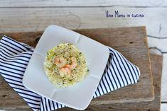 Riso Venere con zucchine, gamberi e semi di papavero Tableware, Dinnerware, Tablewares, Place Settings