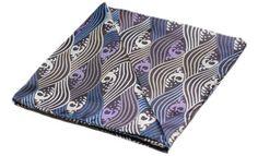 YUKI Printed Silk Pocket Square #pocketsquare #cravat #pocketsquares #menswear #mens #fashion #mensfashion #mensstyle #groom #grooms #groomswear #wedding #weddings #weddingstyle #style #weddinginspiration #inspiration #styling #accessories #weddingcravat #silk #silksquare #madeinengland #madeinbritain #britishmade #cravatclub #waves #japanese #japan #white #lilac #blue