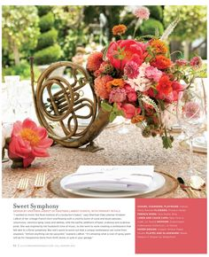 music inspired centerpiece