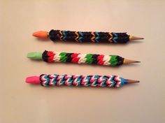 Pencil Grips Tutorial by jordantine1 #rainbowloom #diy
