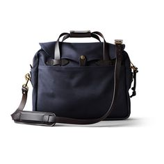 FILSON -- The Briefcase Computer Bag in Navy