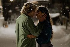 I really loved how--unlike in the broadway version-- the movie version had the snow falling around them. I thought that was extremely neat and definitely added to the whole feel and mood of the song.