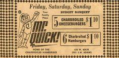 Mr Quick Peoria Illinois, Childhood, Restaurant, Memories, Retro, Sweet, Memoirs, Candy, Infancy