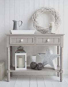 Oxford Grey Console Table, Decorate Your Home In Greys And White, Perfect  For Nordic