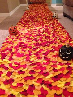All Hallow's Eve-Orange Yellow & Red Halloween by PetaleDeRose