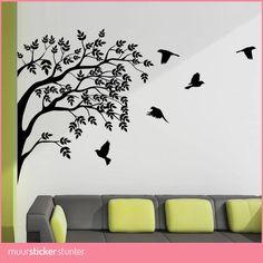 Meerdere vogels in boom muursticker geeft je kamer een natuurlijke & luxe sfeer. Met deze Vogels Muursticker tover je je kamer eenvoudig om tot een natuurlijk & luxe
