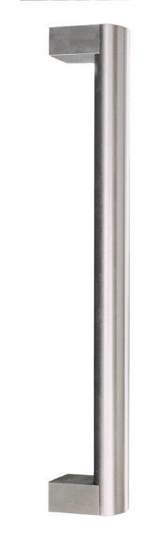 Poignée de porte battante Titanto en inox brossé et poli miroir