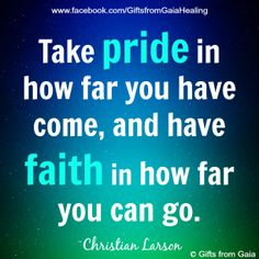 Take time to reflect on how far you have come on your journey and be proud of what you have achieved ♥ Gifts from Gaia
