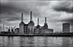 battersea power station black and white photo - Google Search