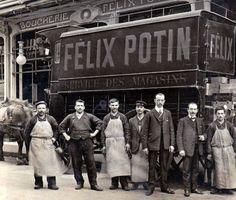 Les attelages de Felix Potin.