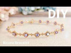 Beaded Bracelets Tutorial, Beaded Bracelet Patterns, Beaded Earrings, Swarovski Bracelet, Swarovski Jewelry, Pearl Bracelet, Pearl Necklace, Jewelry Making Tutorials, Jewelery
