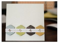 Gratitude Hexagon Place 'n' Punch Card Layout Page Idea from Creative Memories  http://www.creativememories.com