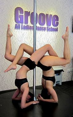 Double stagged headstand Pole doubles