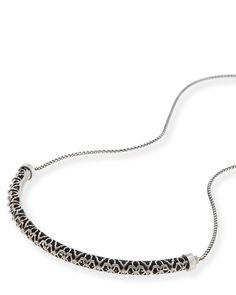 Kendra Scott: Lucy Choker Necklace In Antique Silver
