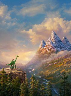 Pixar The Good Dinosaur New Trailer, Poster & Images The Good Dinosaur, Dinosaur Movie, Dinosaur Posters, Walt Disney, Disney Magic, Disney Art, Disney Fonts, Disney And More, Disney Love