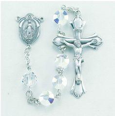 Regina's Catholic Gifts - Aurora Semi Flat Swarovski Crystal Sterling Rosary, $229.00 (http://www.reginascatholicgifts.com/aurora-semi-flat-swarovski-crystal-sterling-rosary/)