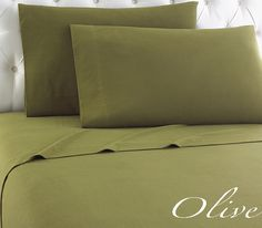Enjoy year-round comfort with our olive green Micro Flannel® sheets.    Discover the softness and strength of .Micro Flannel® and you'll be hooked.