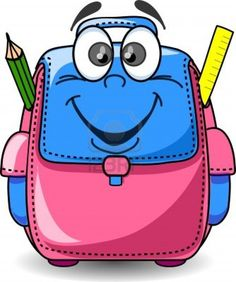 Illustration of Cartoon School Bag vector art, clipart and stock vectors. Welcome To School, School Equipment, Nursery Activities, Cartoon Bag, India Images, Kids Background, Diy Crafts For Gifts, Color Pencil Art, Drawing For Kids