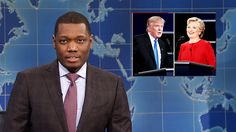 Colin Jost and Michael Che tackle the news, including the first presidential debate between Hillary Clinton and Donald Trump. Undecided voter Cathy Anne (Cecily Strong) explains why she doesn't want to vote for either candidate. [Season 42, 2016]