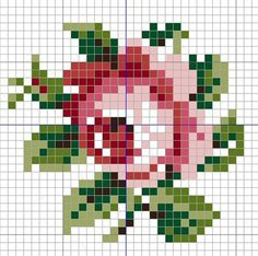 miniature rose needlework chart