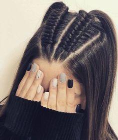 44 Ideas de Peinados Juveniles que te Encantarán Easy Hairstyles For Long Hair, Box Braids Hairstyles, Braids For Long Hair, Pretty Hairstyles, Updo Hairstyle, Braids For Girls, Different Braid Hairstyles, Curly Hair, Long Hairstyles