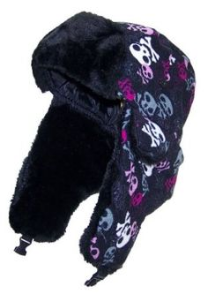 df9aceb9c8f Best Winter Hats Women Russian Aviator Hat with Skulls - Black Pink Best  Winter
