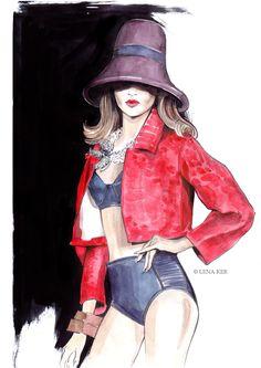 artwork by Lena Ker: fashion illustration