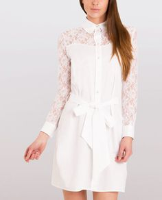 4be5f608293ff6 ... Shirt by Sophie Cameron Davies. COTTON SHIRT DRESS WHITE SCDAW1736 (1)