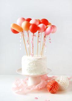 balloon and tassel cake topper