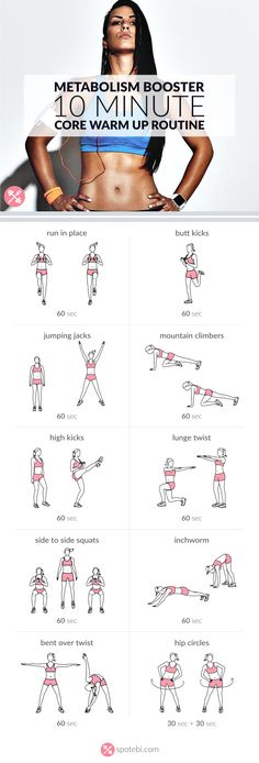 10 minute metabolism booster. Core exercises.