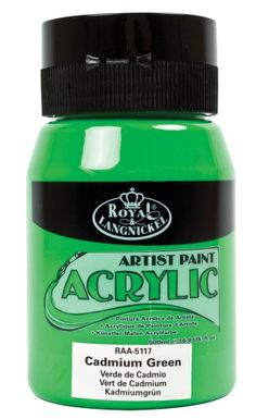 ROYAL BRUSH RAA5117 Acrylic Essentials Acrylic Paint 16ozJarCadmium Green -- Want additional info? Click on the image.