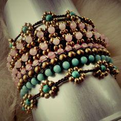 Turquoise, Pink Quartz, Amazonite
