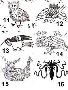 Digital printable native american indian animal symbols