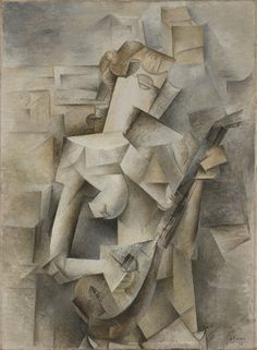 Girl with a Mandolin (Fanny Tellier) (Pablo Picasso, 1910, MOMA, New York)