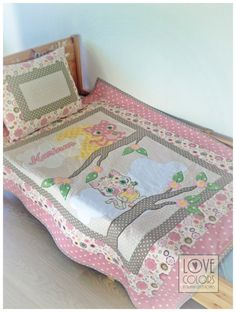 woodland nursery bedding made to order by LoveColorsByJulianna Woodland Nursery Bedding, Homemade Quilts, Baby Kittens, Colorful Pillows, How To Make Bed, Quilt Sets, Nursery Themes, Quilt Top, Crib Bedding