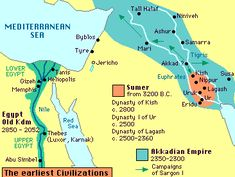 """Genesis' """"first city,"""" Enoch, created in the mythical land of Nod by Adam's son Cain is identified as being in Mesopotamia and the land of ancient Sumer. Ancient Mesopotamia, Ancient Civilizations, Ancient Egypt, Ancient History, Ancient Artifacts, Ancient Aliens, Akkadian Empire, Bible Mapping, Middle School History"""