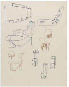 Eileen Grey, design drawings