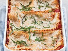 Free-Form Sausage-and-Three-Cheese Lasagna | The judges applauded the rusticity of this gooey lasagna, packed with cheese and sausage. The style is called free-form because the pasta can be arran...