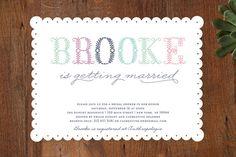 Polen Bride Bridal Shower Invitations by Bonjour Paper at minted.com