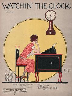 Watchin' the Clock #work #vintage #poster