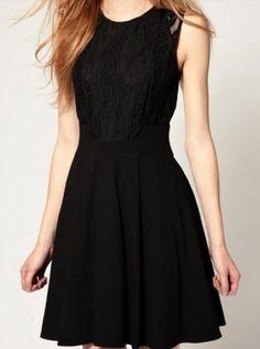Black Sleeveless Lace Bandeau Ruffles Dress - Sheinside.com Mobile Site