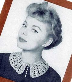 free pattern - Beaded Collar - booklet is undated but I'd guess it's from roughly 1955-1965; collar would spruce up old gothy dresses & tops or even a high-necked fitted tee