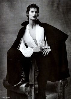 Yves Saint Laurent in Vogue UK August 1993 (photography: Albert Watson) via www.fashionedbylove.co.uk