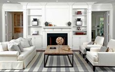 Things We Love:  Striped Rugs Inspired by Somethings Gotta give house