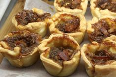 Bacon Butter Tarts from Whitty Farm Markets, Bacon And Butter, Butter Tarts, Muffin, Breakfast, Sweet, Food, Morning Coffee, Candy, Essen