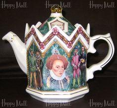 Elizabeth I sadler teapot  http://www.english-teapots.com/england/TEA-S512.htm