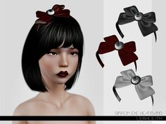 Ribbon Eye Headband by LeahLillith  - Sims 3 Downloads CC Caboodle