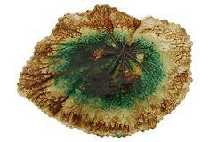 Antique Majolica  Leaf Plate on OneKingsLane.com
