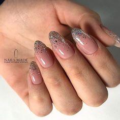 ✔ Nail Short Simple Stilleto #nailsofelpaso #acryilicnails #nailsofinstsgram Glitter Tip Nails, Cute Acrylic Nails, Gel Nails, French Manicure With Glitter, Nail Glitter Design, Coffin Nails, French Manicure Designs, Nail Art Designs, Trendy Nail Art